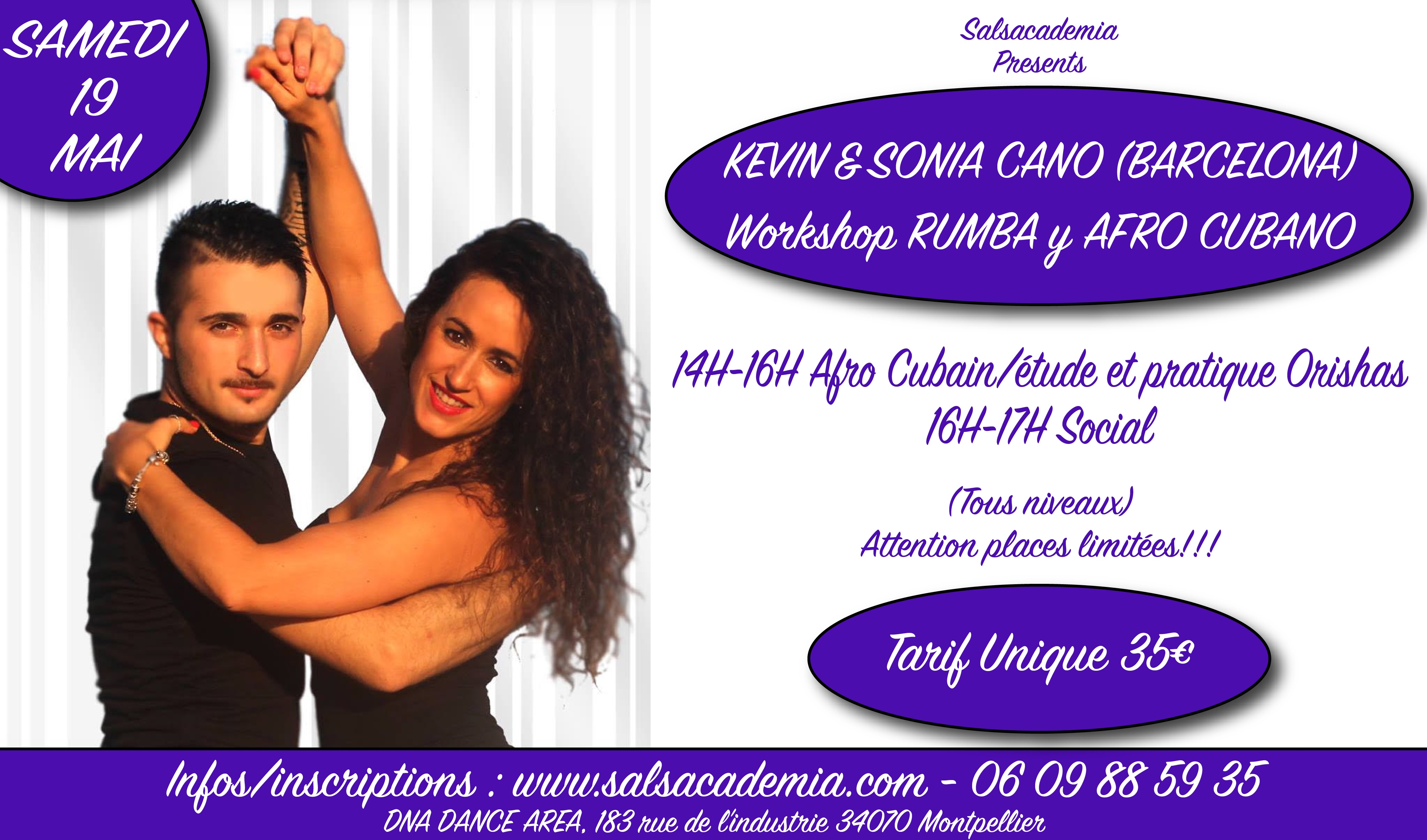 Workshop Rumba & Afro Guest Kevin & Sonia Cano Barcelona
