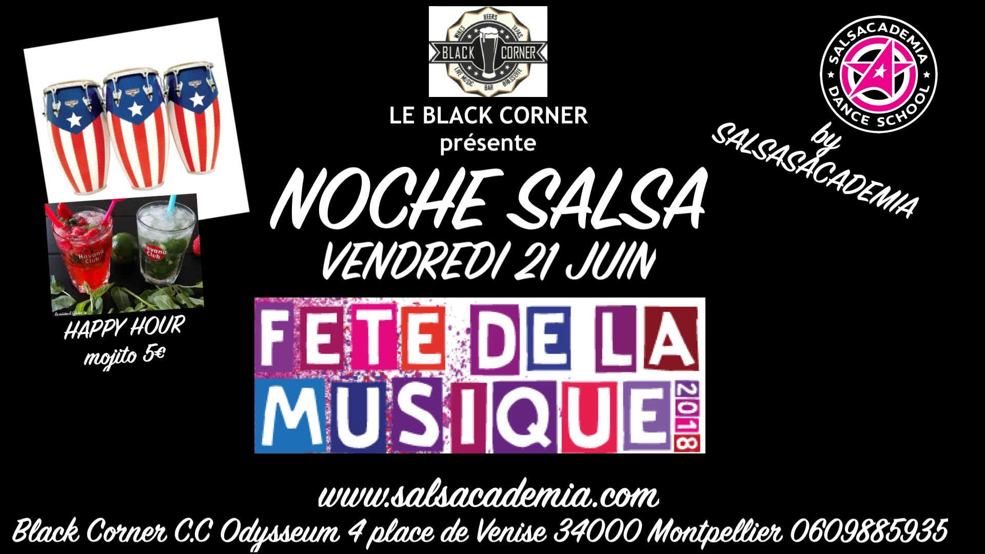 Vendredi 21 Juin: Noche Salsa Fête de la musique