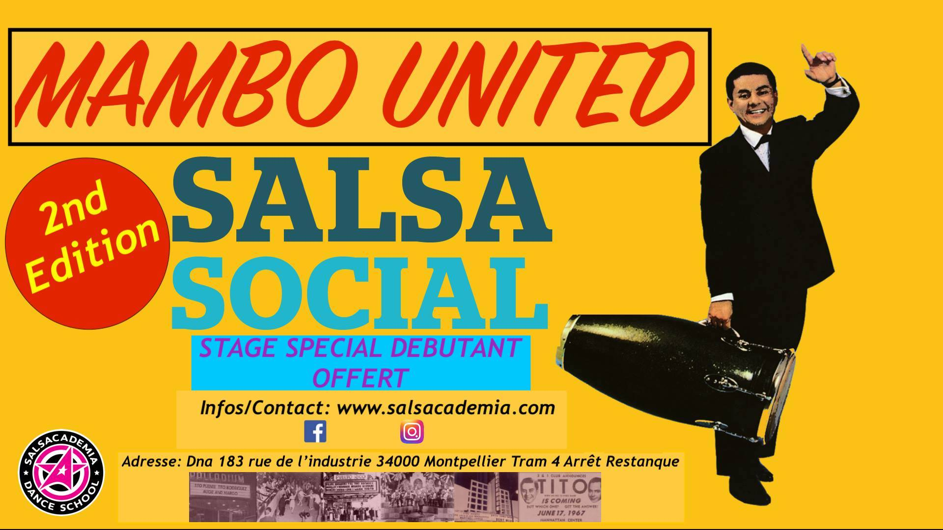 Mambo United – Salsa Social + Stage Special Débutant – 2nd Edition