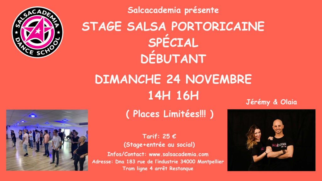 STAGE SALSA PORTORICAINE SPECIAL DEBUTANT