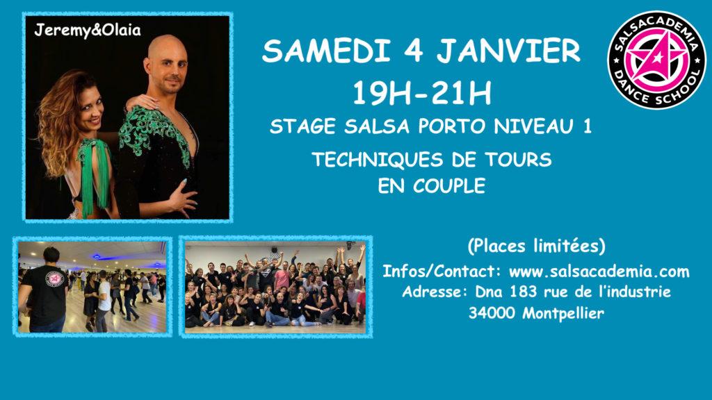 Stage Salsa Porto niveau 1 : Techniques de tours en couple