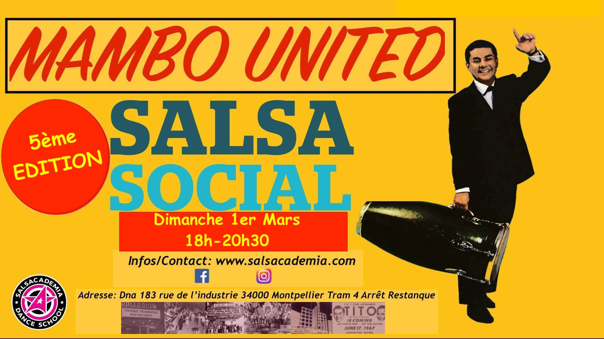 """Mambo United"" 5th Edition – Sunday Salsa Social"