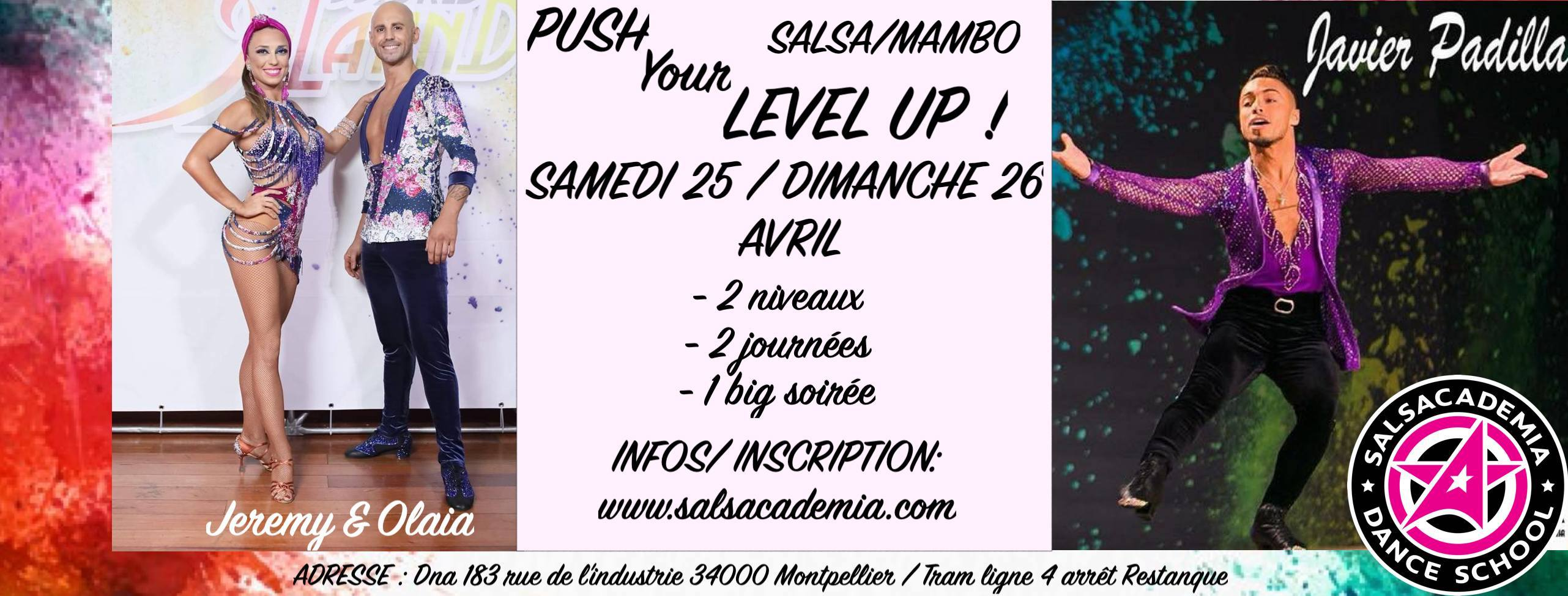 PUSH YOUR LEVEL UP guest Javier Padilla / Jeremy&Olaia
