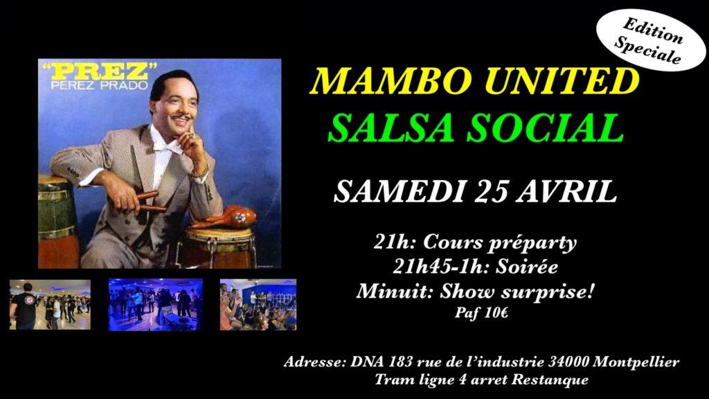 Mambo United Salsa Social-Samedi 25 avril / Edition speciale