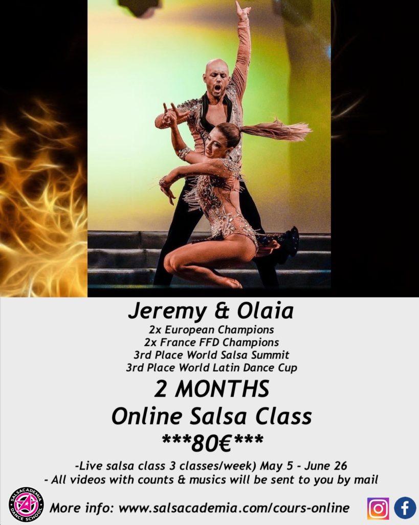 2 Months Online Salsa Class – Jeremy & Olaia