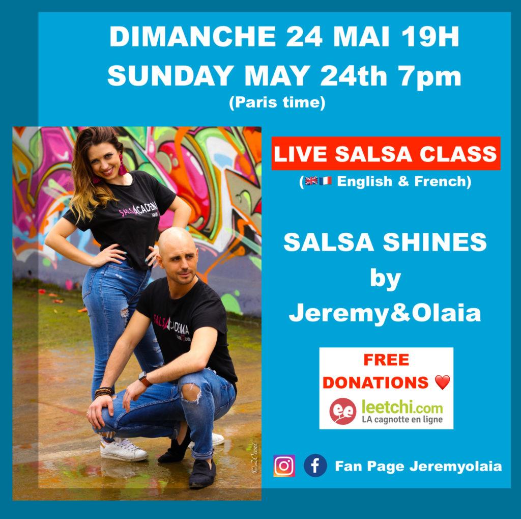 DIMANCHE 24 MAI 19H: Free Salsa Class Online !