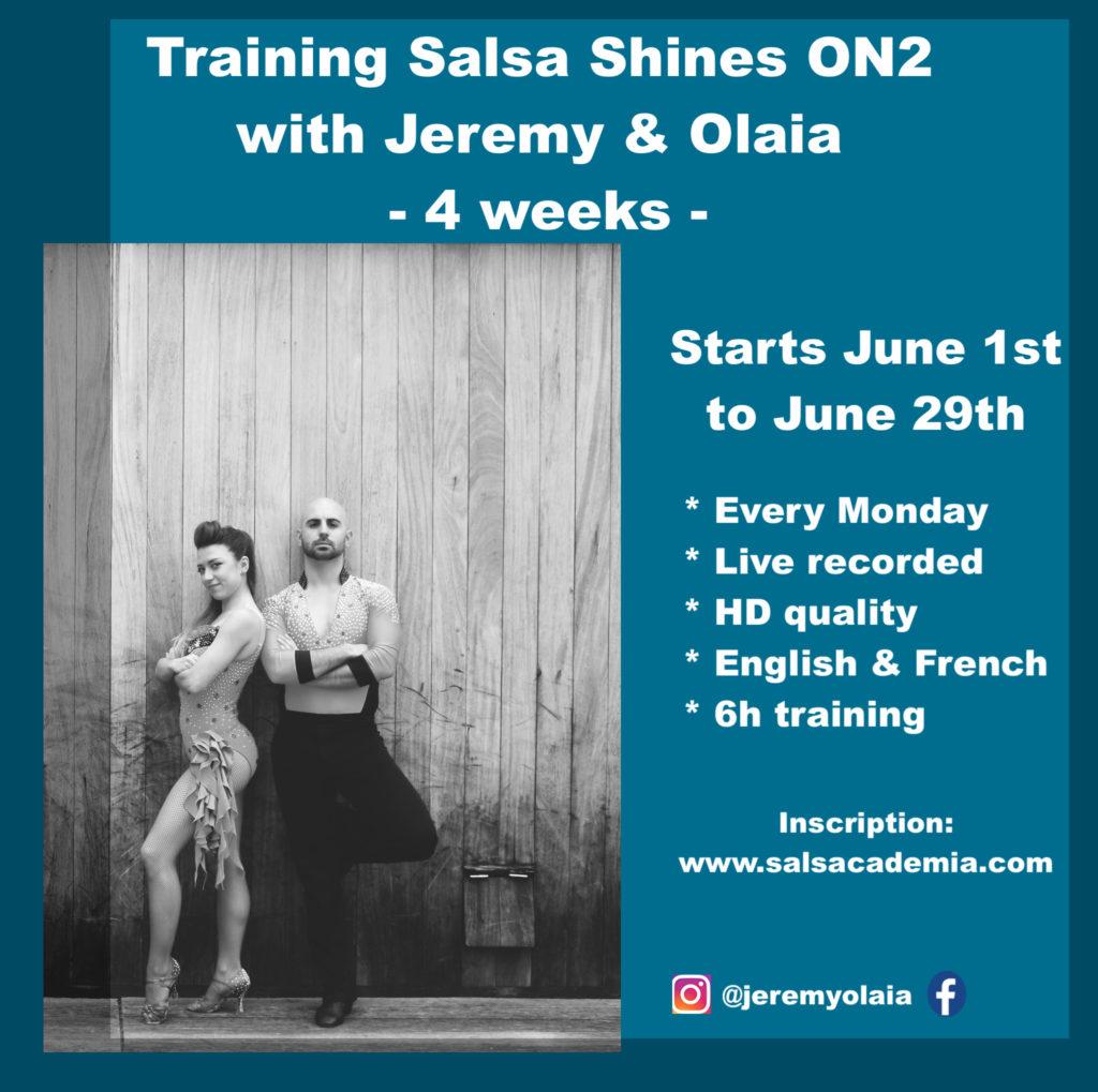 Training Salsa Shines ON2 with Jeremy&Olaia – 4 weeks