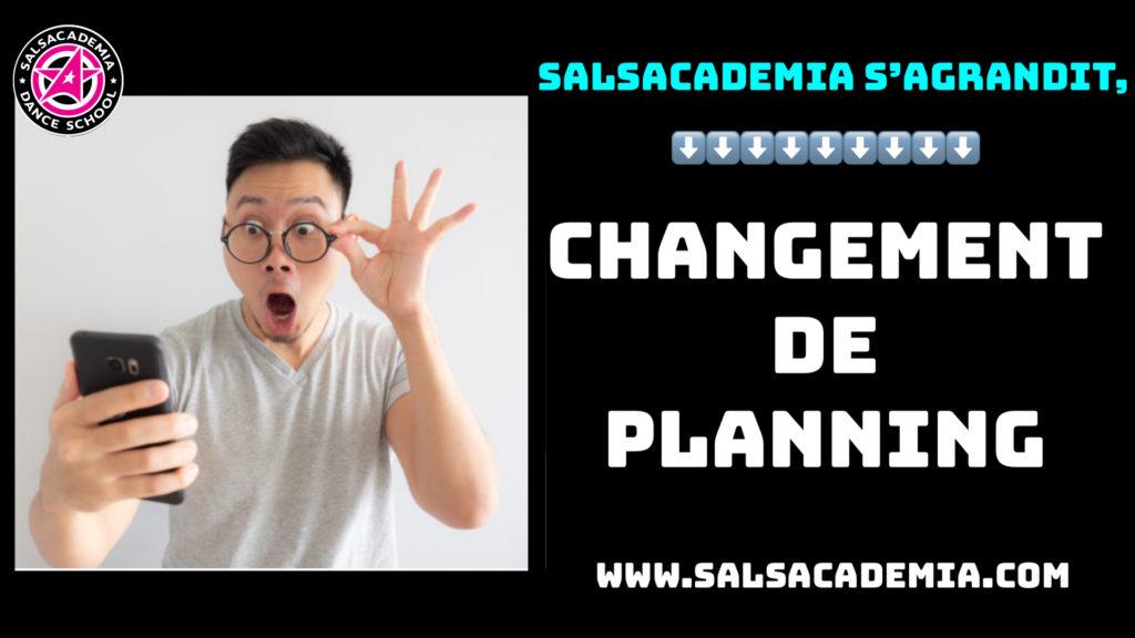 ‼️ LE PLANNING CHANGE ‼️