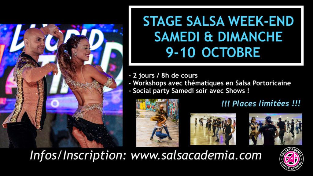 9 & 10 OCTOBRE: Week-end Salsa Portoricaine