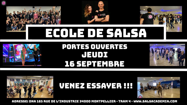 Portes Ouvertes Jeudi 16 septembre 2021 ! Rentrée Cours de Salsa – Salsacademia