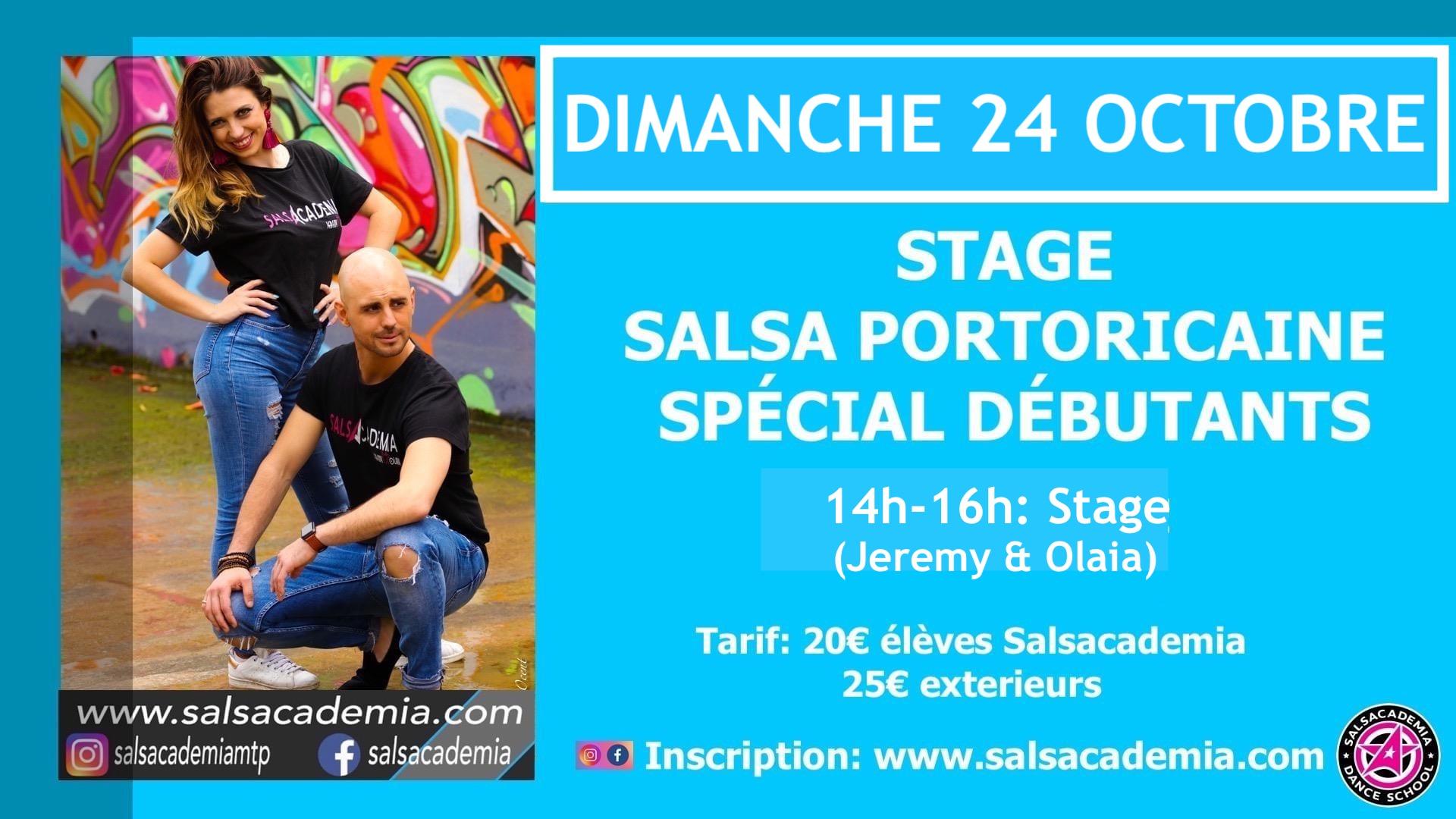 SPECIAL DEBUTANT: STAGE SALSA PORTORICAINE avec Jeremy &Olaia
